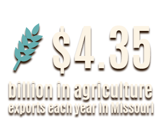Missouri exports $4.35 billion dollars in exports each year.