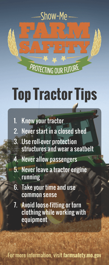 Tractor Safety Show Me Farm Safety